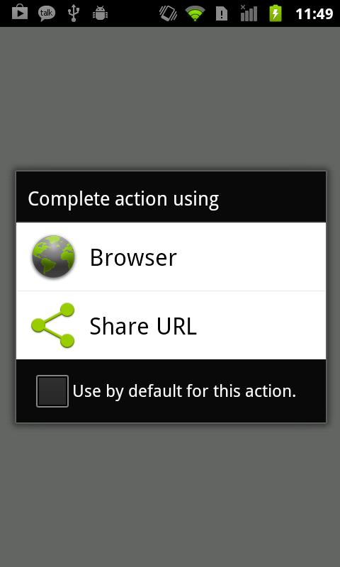 Browser Intercept - Share URL- screenshot