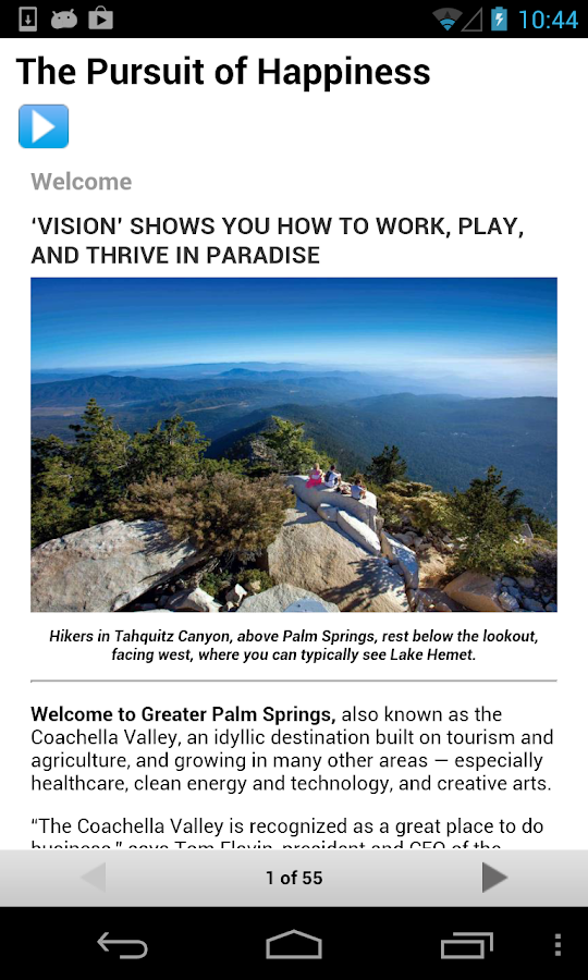 Coachella Valley Vision - screenshot