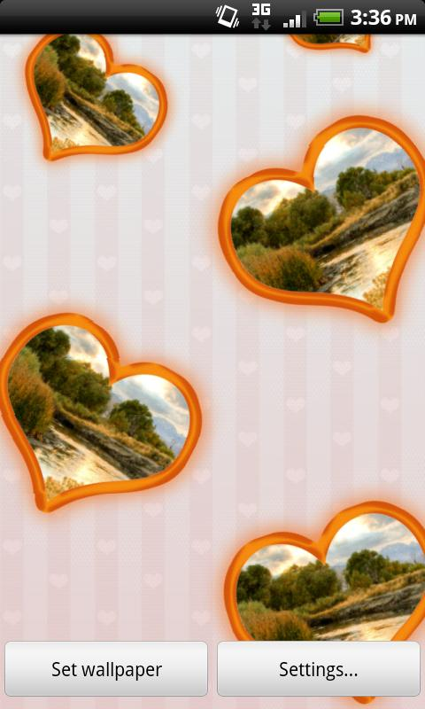 Love & Hearts Photo Wallpaper- screenshot