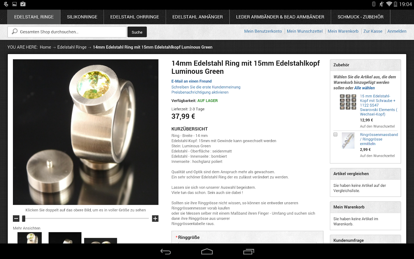 Ring-Ringe.de- screenshot