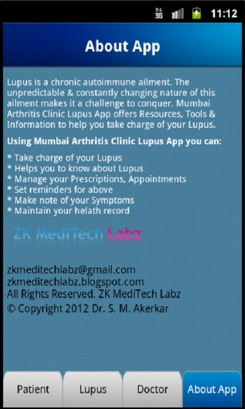 The Lupus App- screenshot