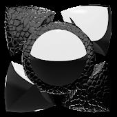 Next Launcher Theme black liz