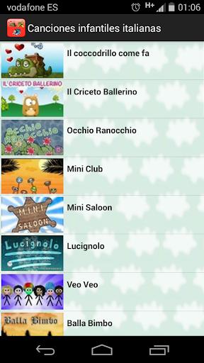 娛樂必備APP下載|Canciones Italiano Infantiles 好玩app不花錢|綠色工廠好玩App