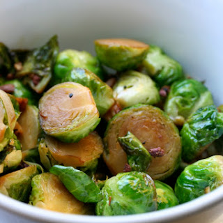 Garlicky Stir Fried Brussels Sprouts with Szechuan Peppercorns.