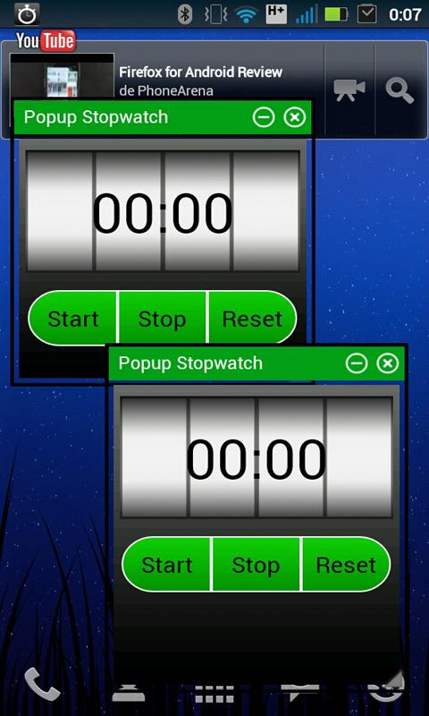 Popup Stopwatch - screenshot
