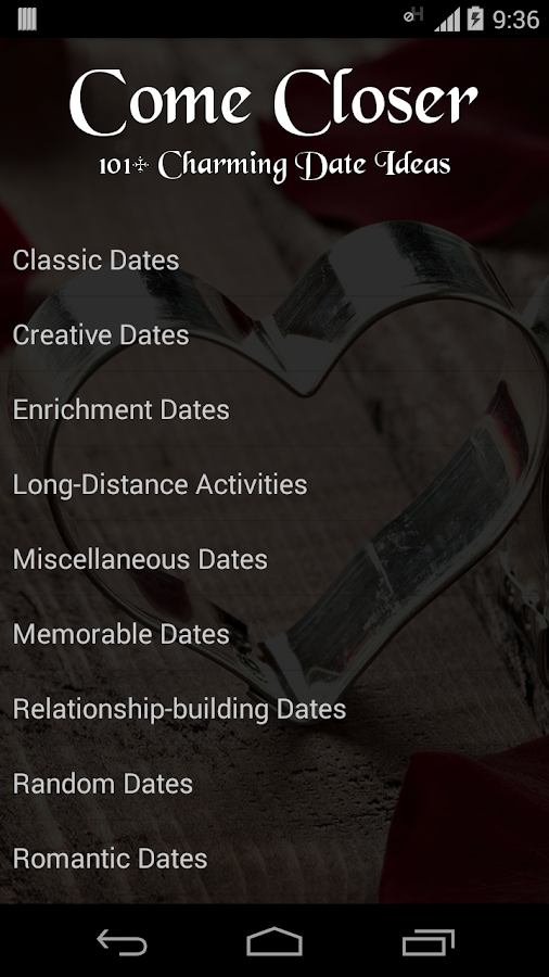 101+ Charming Date Ideas- screenshot
