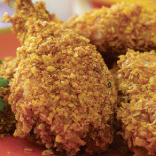 Spiced Up, Oven-Fried Chicken.