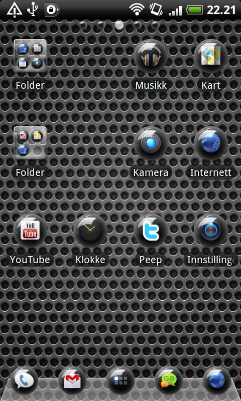 Sphere Black GO Launcher Theme - screenshot