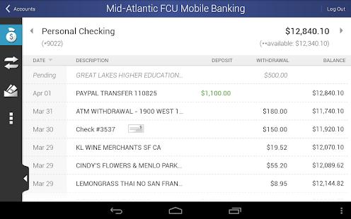 MAFCU Mobile Banking App - screenshot thumbnail