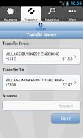 Screenshot of Village Bank