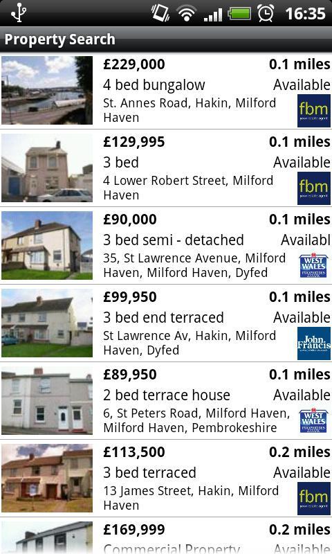 Pembrokeshire Homes- screenshot