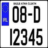 Irish Car Plates