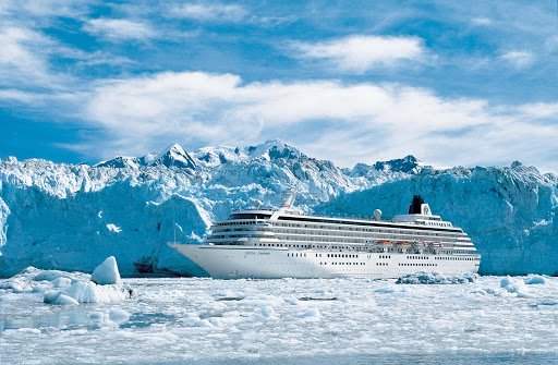 Crystal-Symphony-Glacier-Bay-Alaska-1 - Covering 3.3 million acres of rugged mountains, dynamic glaciers, temperate rainforest, wild coastlines and deep sheltered fjords, Glacier Bay National Park is a highlight of Alaska's Inside Passage.