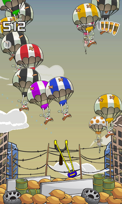 Zombie Parachute- screenshot