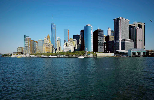 southern-Manhattan - View of Manhattan from the south — a sight cruisers will see when leaving New York Harbor.