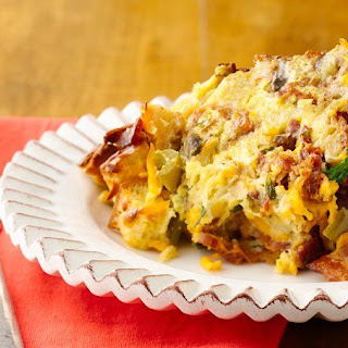 Slow-Cooker Bacon, Smoked Cheddar and Egg Casserole.