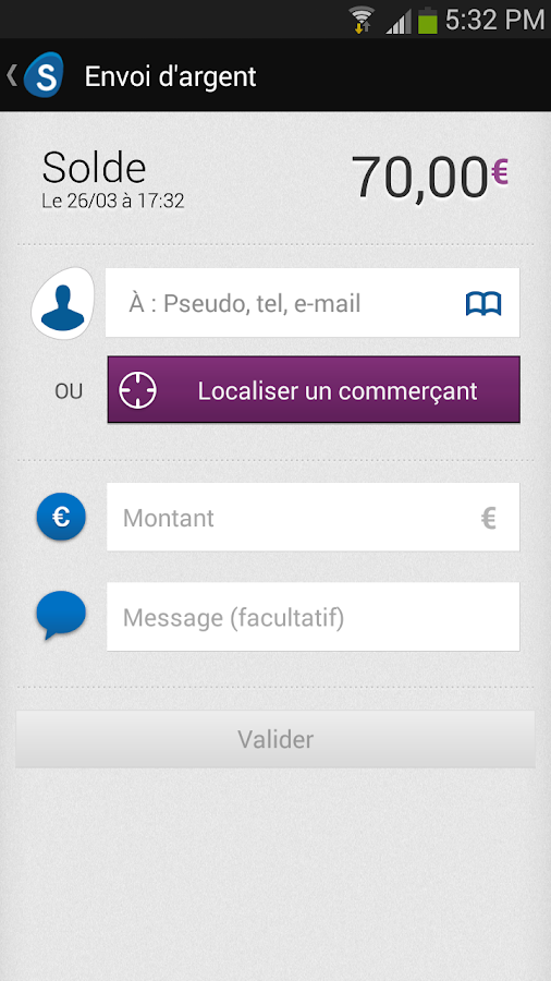 S-money - Paiement mobile – Capture d'écran
