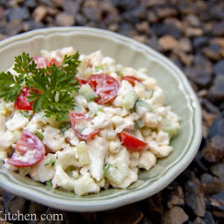 Cauliflower Cucumber and Tomato Salad