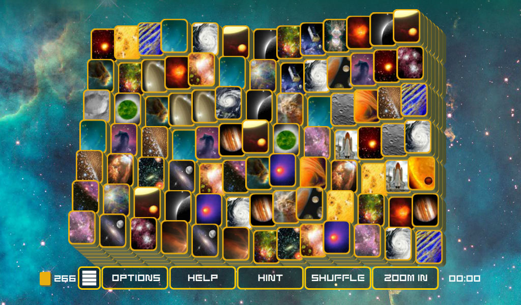 Mahjong Galaxy Space - Mahjongg with many levels- screenshot