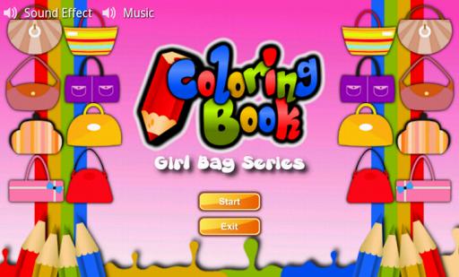 Coloring Book Girl Bag Series