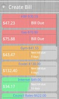 Screenshot of Bill Burner- Budget & Reminder