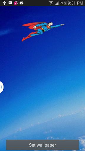 【免費個人化App】Flying Hero Live Wallpaper-APP點子