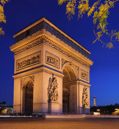 A nice capture of the Arc de Triomphe (Arch of Triumph), at the center of the Place Charles de Gaulle, Paris.
