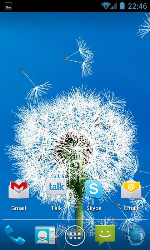 Dandelion LWP- screenshot