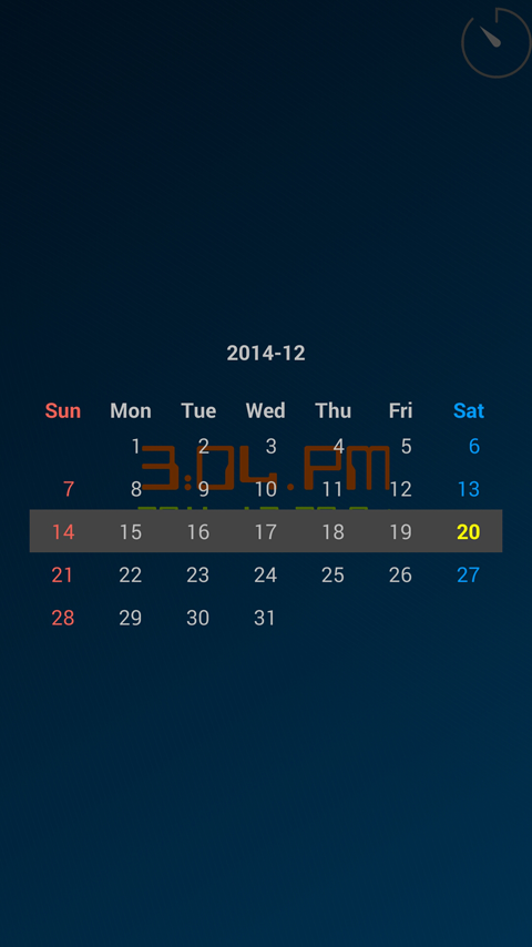 ClockView (Always On Clock) - screenshot