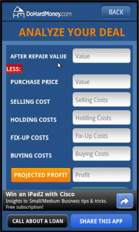 DHM Residential Deal Analyzer- screenshot