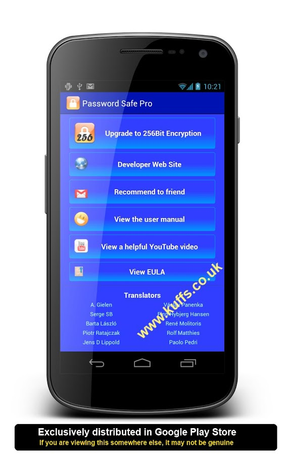 Password Safe Pro- screenshot