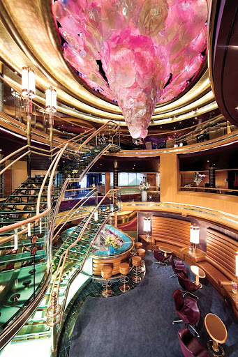 Holland-America-Eurodam-Atrium - The new atrium bar area aboard Holland America Line's Eurodam.