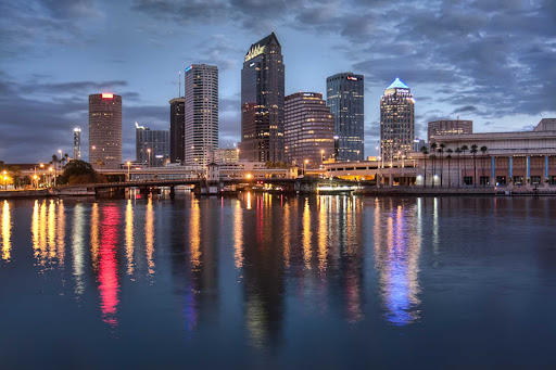 Downtown reflection in Tampa, Florida.