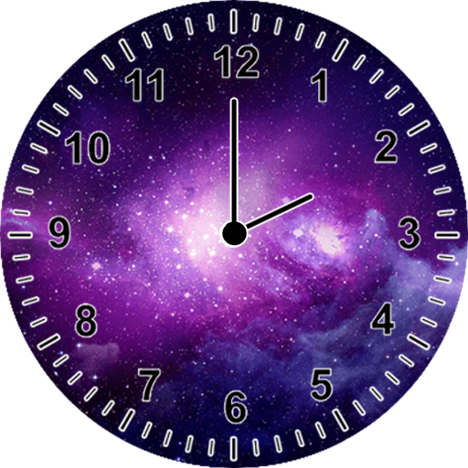 Galaxy Clock Widget