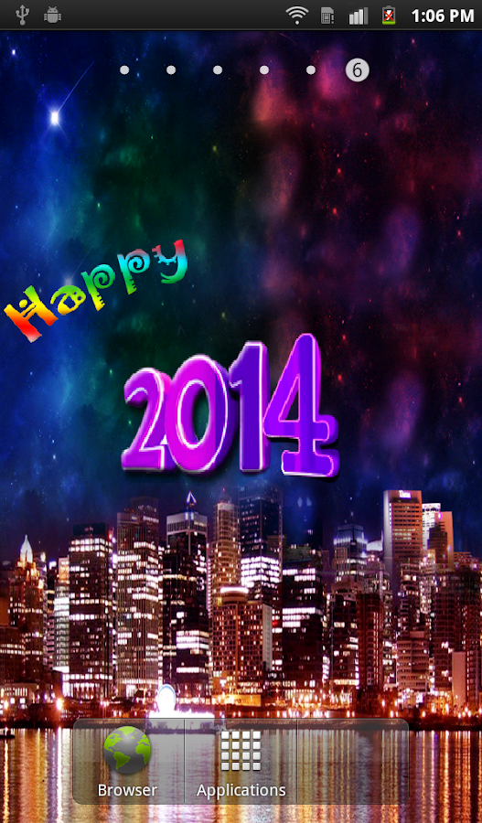 New Year HD Live Wallpaper - screenshot