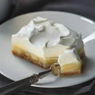 Triple Layer Banana Cream Pie Bars.