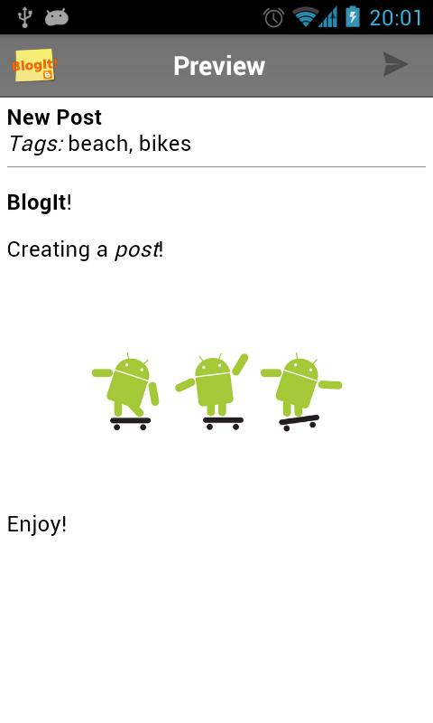 BlogIt! - screenshot