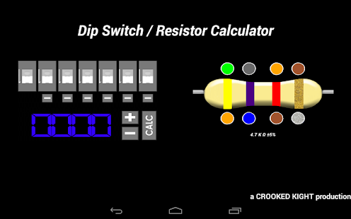 Dip Switch / Resistor Calc. - screenshot thumbnail