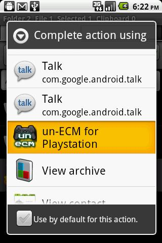 un-ECM for Droid - screenshot