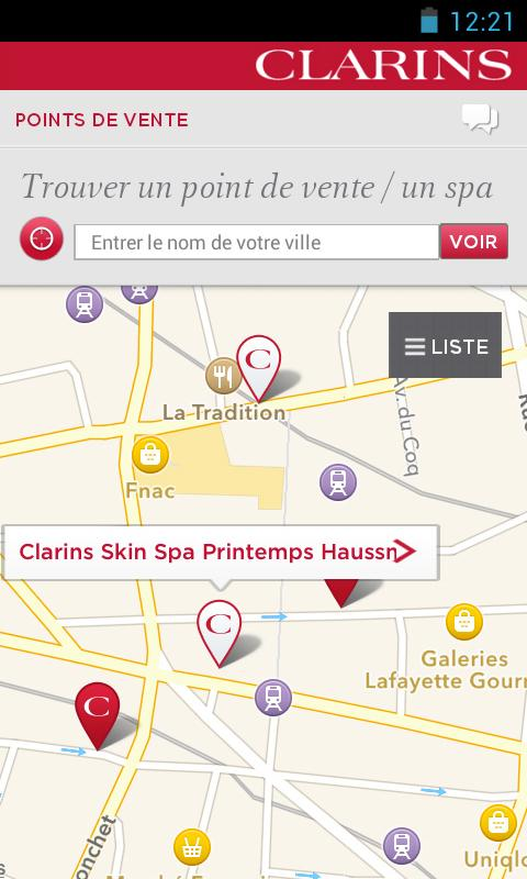 Clarins - screenshot