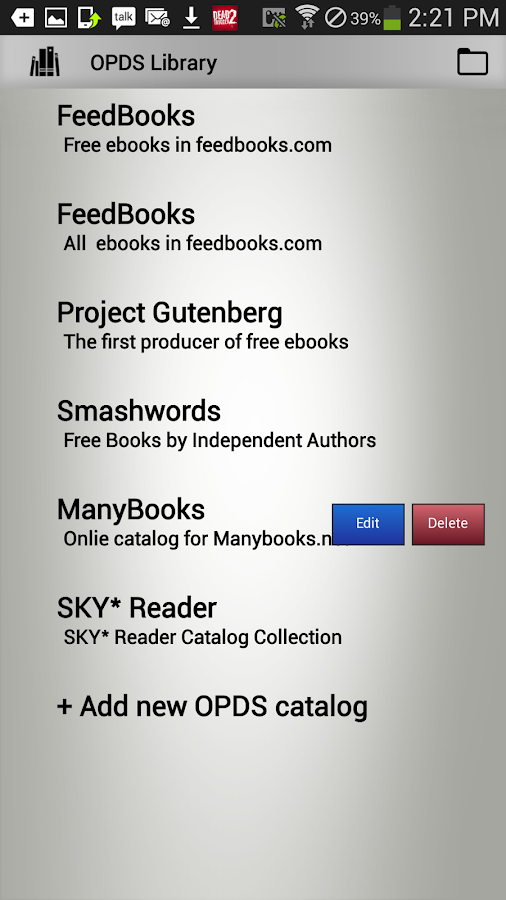 SKY*Reader-EBook Reader & OPDS- screenshot