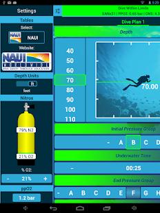 Dive Planner 2 screenshot