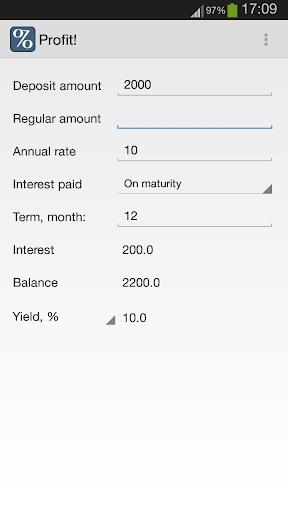 Profit - Deposit Calculator