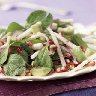Mexican Salad with Pomegranate-Lime Dressing.