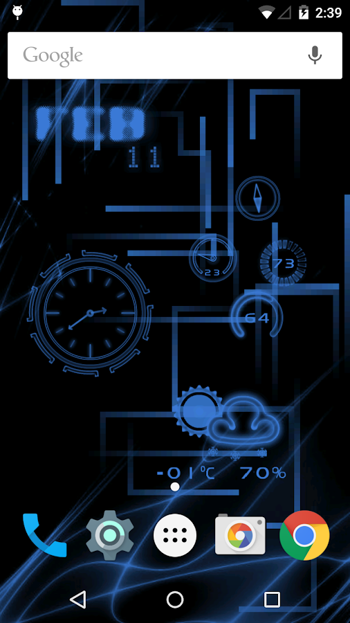 NeonClock legacy Livewallpaper- screenshot