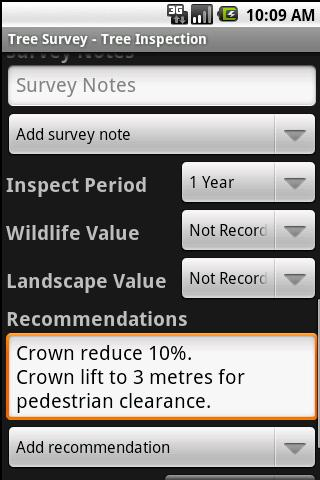 Tree Survey (OTISS)- screenshot