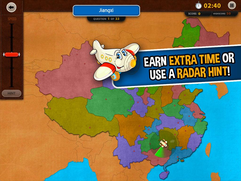 GeoFlight China: Geography- screenshot
