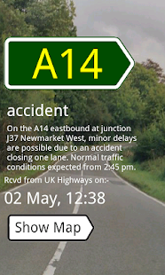 UK Traffic Alerts - screenshot thumbnail