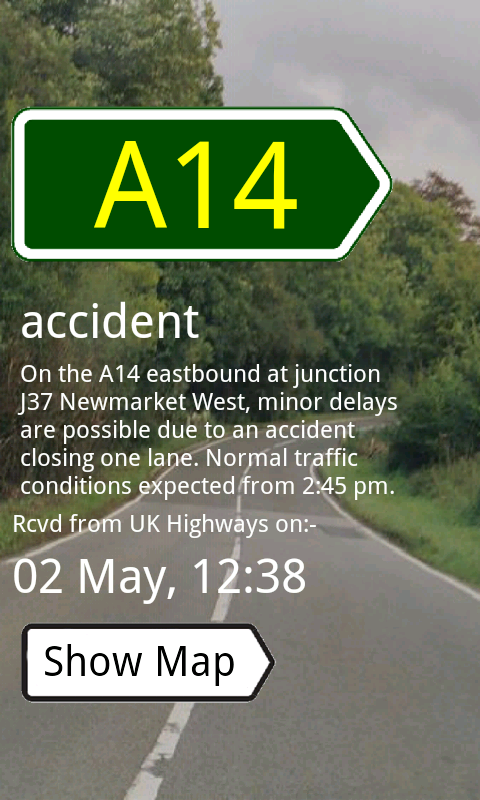 UK Traffic Alerts- screenshot