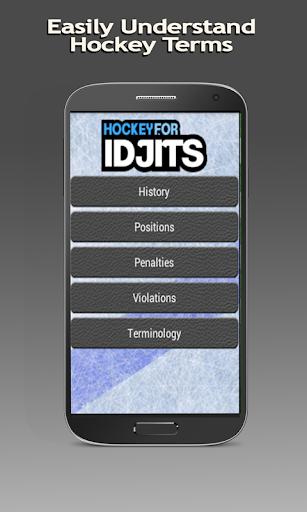 Hockey For Idjits